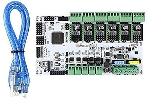 Auoeer Accesorios de impresoras 3D Tablero de Control Principal de rumba-32 bit Compatible con Marlin 2.0 32 bits Rumba versión de actualización DIY Board