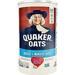 Quaker, Quick 1 Minute Whole Grain Oats, 42 Oz