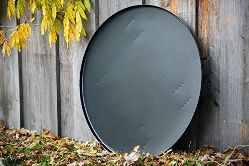 KUHEIGA Bodenplatte für unsere Feuerkörbe Funkenplatte Unterlegplatte Ø: 71cm mit Füssen