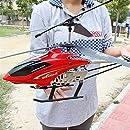 BHJH7 抵抗 クラッシュ 安定したラジオ リモート ヘリコプター 3.5 チャンネル 内蔵ジャイロ RC ドローン おもちゃ LED ライト ラジオ プレーン 大きな子供 初心者 男の子 ギフト アウトドア 子供 イースター クリスマス ギフト 赤 - 68cm