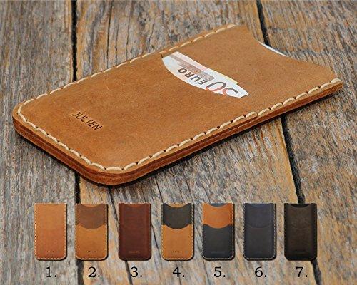 Texte personnalisé Housse en cuir pour Samsung Galaxy | nombreux modèles