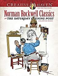 norman rockwell classic coloring book for seniors