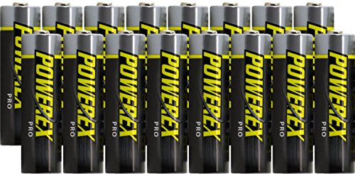 Powerex PRO AA High Capacity Rechargeable NiMH 1.2V, 2700mAh - 16 Batteries With Holders