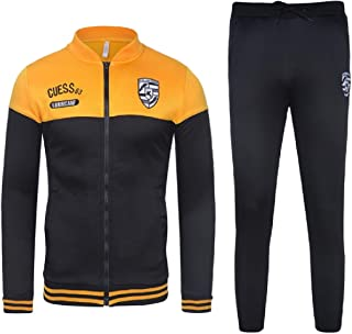 FSSE Mens Casual Sport Jacket Pants 2 Piece Outfits Running Sweatsuits