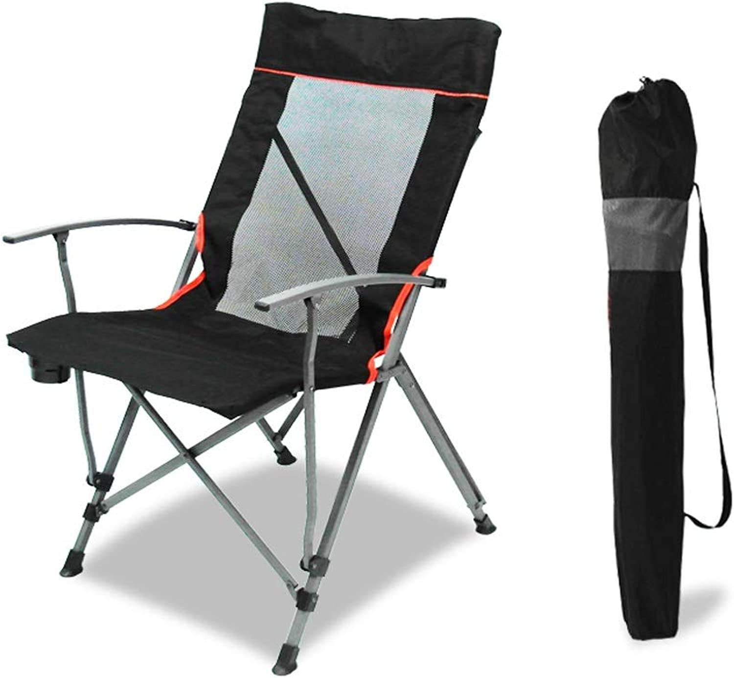 XUANLAN High Back Armchair Outdoor Folding Lounge Chair Camping Comfortable Folding Chair Armchair