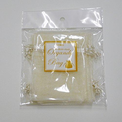 『HEIKO ヘイコー オーガンジーバッグ 平袋タイプ S アイボリー 10枚入 008705024』の2枚目の画像