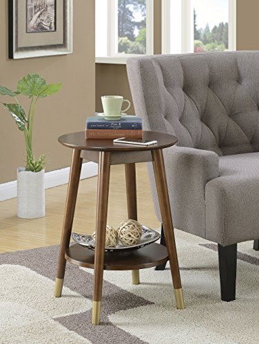 Convenience Concepts Wilson Mid Century Round End Table with...