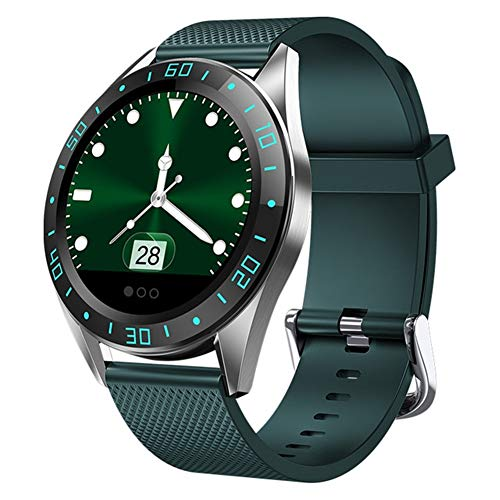 CRFYJ nuevo GT105 Fitness Tracker pulsera impermeable presión arterial inteligente Bluetooth reloj inteligente HR podómetro para iOS Android (color: verde)