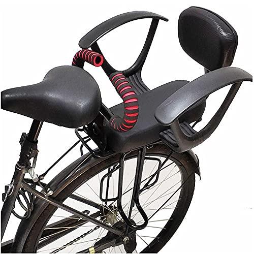 BDXZJ Silla Bicicleta Nino Trasera Portaequipajes para MTB Asiento de Seguridad para Bebé con Reposabrazos Pedales Cinturón de Seguridad Ajustable Y Desmontable