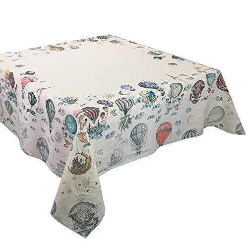 Garnier Thiebaut Parure de Table Vintage Montgolfierre, 155 x 260 cm