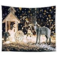 95cm * 73cmクリスマスタペストリー背景布ベッドルームベッドサイド掛かる布写真背景 写真撮影機器写真スタジオ (Color : K, Size : One size)