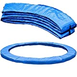 Fzd Sweet Replacement Trampoline Safety Pad Mat, Spring Cover, Waterproof UV-Resistant, Tear-Resistant Edge Protection, Standard Size Blue (13FT)