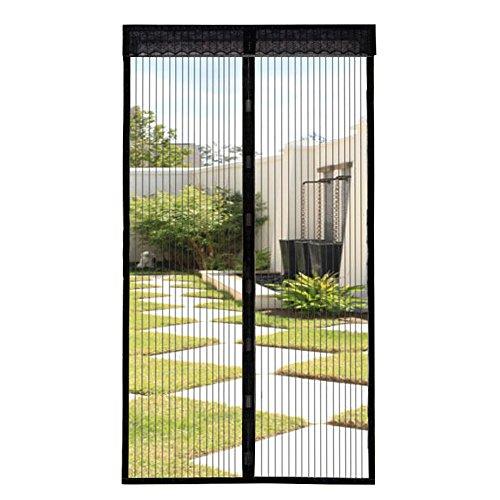 Extsud Mosquitera Magnética para Puertas 90 x 210 cm Cortina Protección contra Insectos para Puerta de Balcón Sala de Estar Puerta de Patio Pegado sin Taladrar, Negro