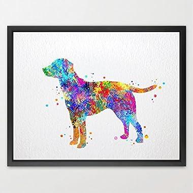 Dignovel Studios 8X10 Labrador Dog Watercolor Print Wedding Gift Fine Art Print Children's Wall Art Wall Decor Art Home Decor Wall Hanging N132