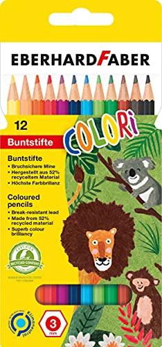 Eberhard Faber Hexagonal Coloured Pencils (Pack of 12)
