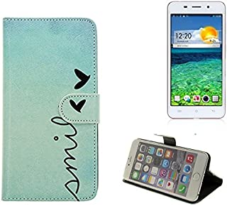 K-S-Trade 360° Funda Smartphone para Cubot X9, Smile'   Wallet Case Flip Cover Caja Bolsa Caso Monedero BookStyle