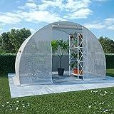 vidaXL Gewächshaus 2 Seitenfenstern 1 Tür Garten Treibhaus Tomatenhaus Pflanzenhaus Gartenhaus Frühbeet 4,5m² 300x150x200cm
