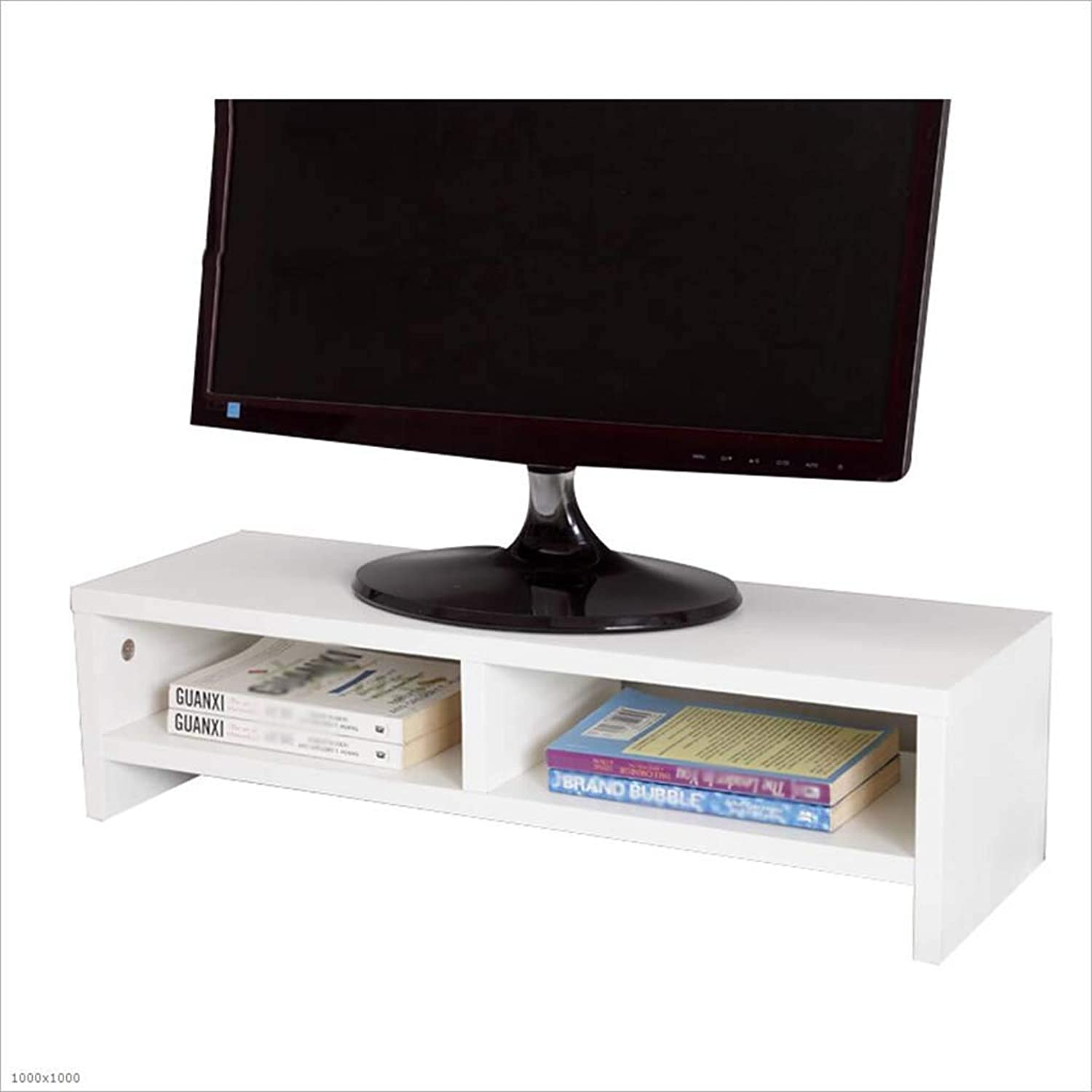 Computer Monitor Increased Shelf Bracket Bracket Keyboard Shelf Desktop Rack Storage Shelf,White,C