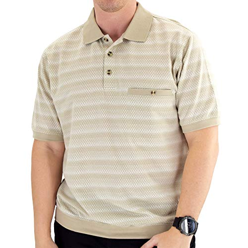Classics by Palmland Short Sleeve Polo Shirt 6191-420BT - Taupe (X-Large Tall, Taupe)