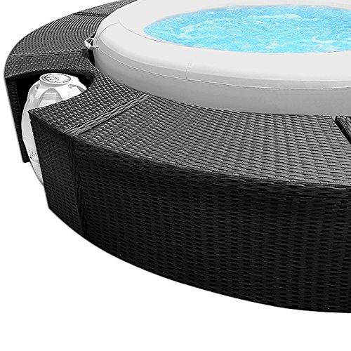 XXL Whirlpool Umrandung Polyrattan Pool Rahmen Verkleidung Poolumrandung - 7