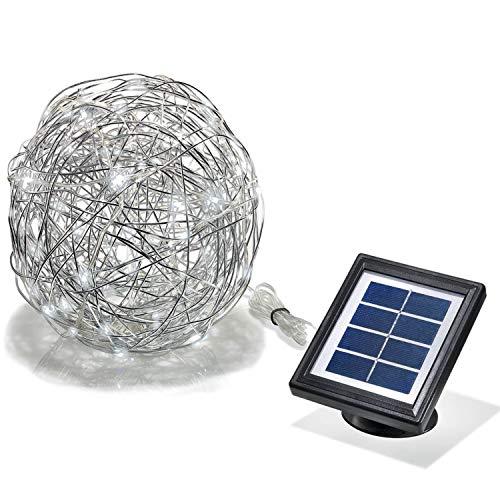 Boule solaire aluminium a led