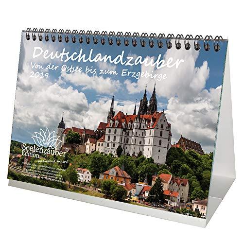 Deutschland · Ostsee zum Erzgebirge · DIN A5 · Premium Tischkalender/Kalender 2019 · Dresden · Meißen · Quedlinburg · Leipzig · Erfurt · Pirna · Schwerin · Edition Seelenzauber