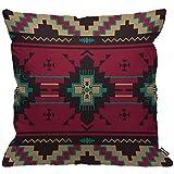 HGOD Designs Housse de coussin à motif ethnique, motif indien du sud-ouest de l'Amérique indienne, aztèque, Navajo, décoration de la maison pour salon, chambre à coucher, canapé, chaise 45 x 45 cm