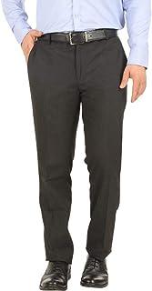 FrontLook Men's Formal PolyViscose Trouser Pants, Black, 30inch…
