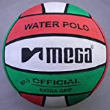 Water Polo Ball. Mega. red-white-green diseño. Tamaño 5