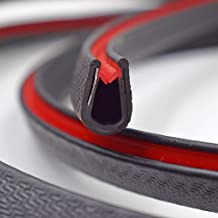 "PVC Plastic Edge Trim U Shape Black Large Edge Protector for Cars, Boats, Machinery, and More– Fits 0.196"" Edge, 0.55"" Leg Length (10.5 FT(3.2M))"