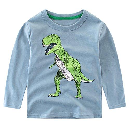 Chic-Chic Haut Pull-Over Sweat-Shirt Bébé Fills Garçon Enfant Manche Longue T-Shirt Sport Top Imprimé Motif Mignon Souple Casual Printemps Bleu 5-6ans