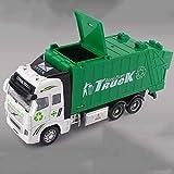 DZX Aleación de saneamiento simulada Modelo de Retroceso 1:32 Escala Modelo de automóvil Verde...