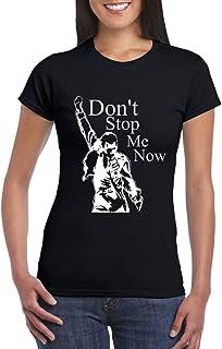 UZ Design Camiseta Freddie Mercury Mujer Chica Niña Don't Stop Me Now Grupos de Rock