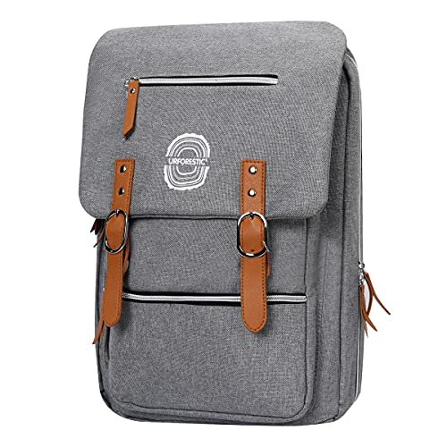 URFORESTIC Chef Knife Backpack Knife Bag with 36 Pockets for Kitchen Knives Tools,Knife Backpack For Chefs Students (Grey)