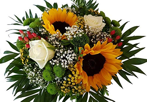 Flora Trans Blumenstrauß mit Sonnenblumen -Sonnige Blumensendung-