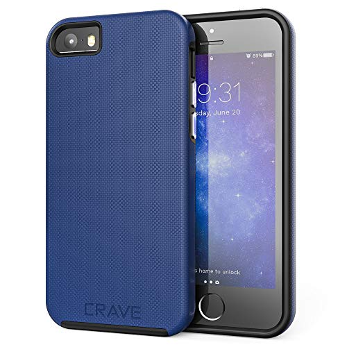 Crave iPhone SE [2016](1st gen) Case, Dual Guard Protection Series Case for iPhone 5 / 5s / SE - Navy