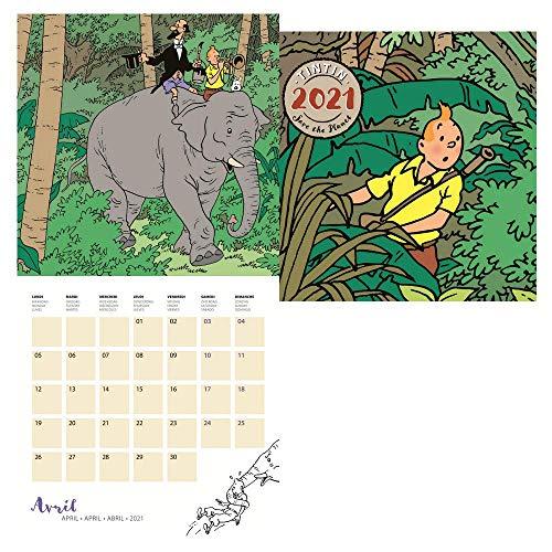 Le calendrier mural 2021 pour fan de Tintin