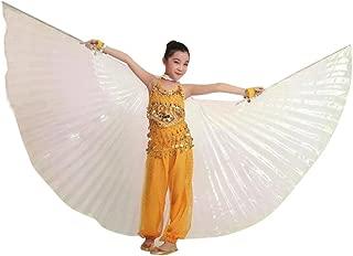 QXLhxuIo Niña Alas de ángel Egipcio para Danza del Vientre con Varillas Ajustables Accesorios, Navidad Material de claqué de Luz 360 Grados