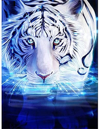 2000 Rompecabezas para Adultos Una colección Tigre Blanco Caminando en el Agua Rompecabezas Collares de Colores para Adolescentes y niños Arte 100x71cm