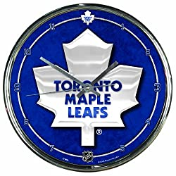 NHL Toronto Maple Leafs Chrome Clock