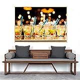 KWzEQ Imprimir en Lienzo Jugo de Frutas Fotos pósters y decoración del hogar para Sala de estar60x90cmPintura sin Marco