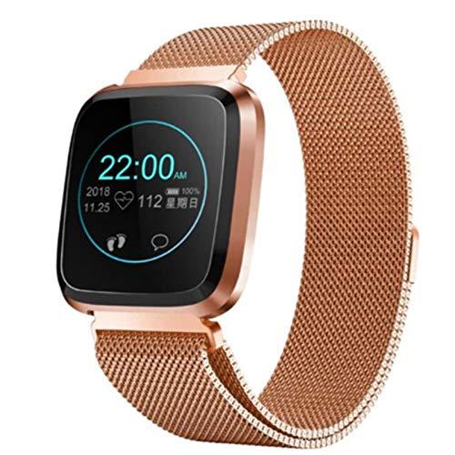 ZGLXZ 2021 L18 Smart Watch Femmes Homme IP68 Sports Imperméables Sports Fitness Tracker Watch Sleep Tendance Cardiaque Tendance Artérielle Moniteur Smartwatch pour Android iOS,E