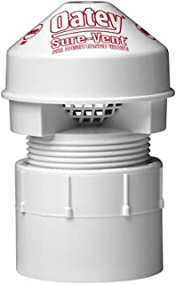 """Oatey 39228 1.5"""" 6 DFU Sure-Vent AAV with PVC Adapter, 1-1/2-Inch, White"""