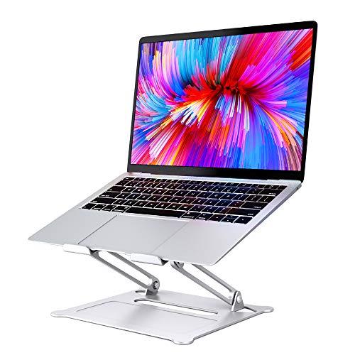 SAVFY Supporto Pc Portatile - Supporto Notebook 17 inch per PC iPad Surface Phone, Lega di Alluminio, Pieghevole con,può Essere Usato per Ricette E Libri (Argento -17 inch)