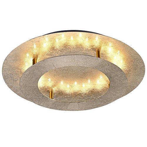 LED Deckenleuchte Paul Neuhaus 9620-12 Nevis 18 Watt Deckenlampe Metall Gold 1440 Lumen 3000 Kelvin