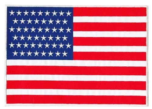 Wdrf USA Flagge Vereinigte Staaten von Amerika Backpatch Rückenaufnäher XXL ca. 28,0 x 19,5 cm