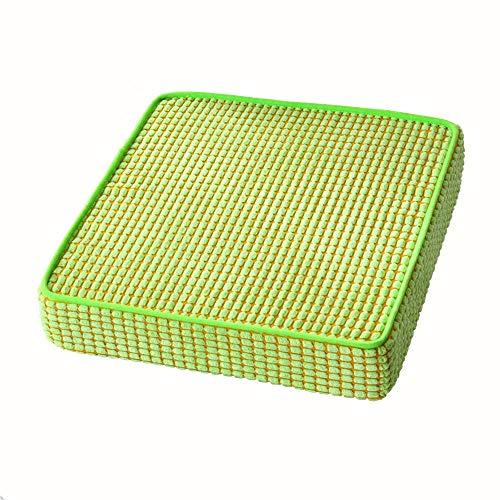 HyFanStr Sitzkissen aus Memory-Schaum, rutschfest, quadratisch, Schaumstoffpolster, Square-Green, 45x45cm/17.7x17.7