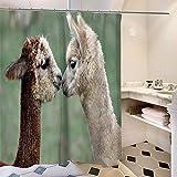 Wasserdicht Neues Tier Alpaka Gras Schlamm Pferd Polyester Druck Wasserdicht Mehltau Duschvorhang Bad Konto Badezimmer Hotel (Color : C, Size : 180 * 180cm)