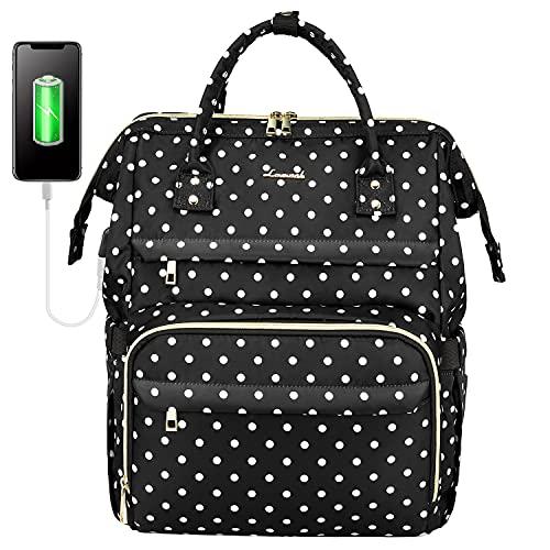 LOVEVOOK Mochila para mujer con compartimento para portátil de 15,6 pulgadas, mochila escolar para niña Teenager, mochila para ordenador portátil, impermeable
