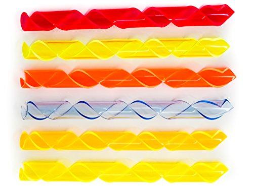 Lumenman Spira 6er Ergänzungsset Lightpainting - 6 Acrylglas Spiralen, Grün, Orange, Rot, Lemon, Blau, Sun